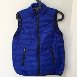Fabletics Vest Royal Blue Puffer Down & Feathers